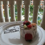birthday cake the hotel made me