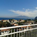 Vesuvius from the roof terrace