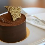 Chocolate dessert in the resaurant