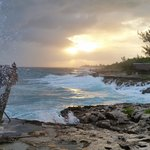 Sunset, Waves and Blowhole