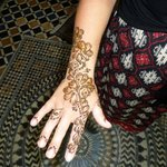 My wifes Henna done at the hotel