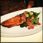 Icelandic Arctic Char with herb salad, potato chip & yuzu dressing