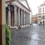 view of pantheon from hotel door way