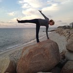 Sunset yoga w our new friends at The Inn at Oak Bluffs