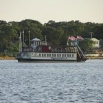 Here she's sailing down the Toms River.