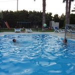 Playing water polo