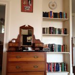 Bookcase in room