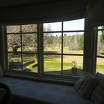Almora Cottage - View from living room, overlooking garden and golf course further back