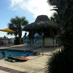 The Tiki Hut next to the pool for drinks and food.