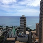 View of Waikiki Beach from 29th floor.