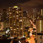Waikiki @ night from 29th floor looking NW toward Kuhio Ave.