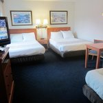 Two Extra-long Double Beds and One Single Bed