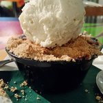 Black and Blue Berry Cobbler with Vanilla Bean Ice Cream