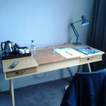 Desk with tea and coffee making facilities