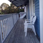 Cool deck to sit out and enjoy
