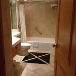 Nice big marble bathroom