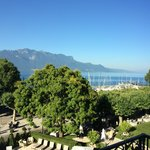 View of Lake Geneva from our room