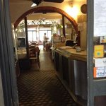 restaurant Barsport, dining room.. the old floor tiling dating back to the 1920's