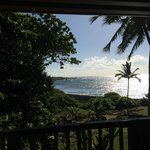 The view from our lanai (the Honu suite)