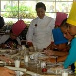 Pizza making class at Fiesta Kids Club