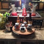 Bloody mary bar at buffet breakfast!