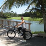 Biking on the amazing grounds
