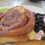 blueberry stuffed toast