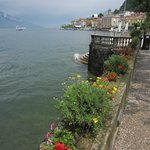 Walking along Lake Como