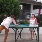 Using the table tennis