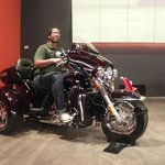 Picture of myself on a two-person Harley-Davidson model