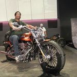 Picture of myself on a Harley-Davidson model