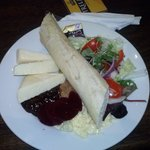 The Ploughmans lunch we had.