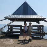 The gazebo at the top of Knox Mnt offers some shade!