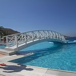 The main pool with the beautiful bridge that will lead you down to the beach.