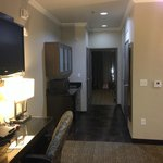 King suite has a door to the bedroom for privacy!