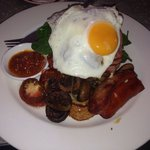 Big Breaky !! The best choice for a big star !! Lovely food see you soon ! Compliments to the Ch