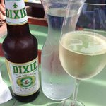 Po Boy Sandwich and Dixie Beer