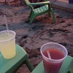 Drinks on the beach - Red Cat Slushies!