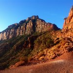 Gorgeous morning sun hitting one of the many ranges in the Kaibab trail