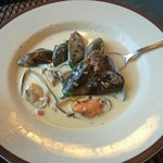 Mussels in white sauce
