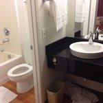 Motel 6 Pleasanton, CA - Bathroom Area (Room 110)