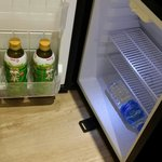 the room also provided a functionable fridge but it was empty.  we could buy our own drinks and