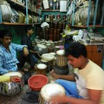 The workshop of a traditional Tabla maker in Varanasi