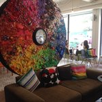 Love this artistic piece in their reception!