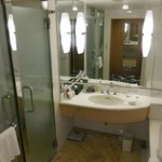 Separate tub and shower in the bathroom