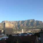 View of the table mountain from the hotel terrace