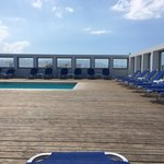 Roof top pool overlooking the port- great views of Heraklion