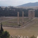 View from our balcony - Temple of Zeus!
