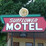 Hiawatha KS Sunflower Motel Neon Sign