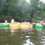 floating down the river